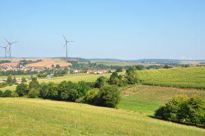 Blick auf Simtshausen; zwischen Simtshausen und Todenhausen